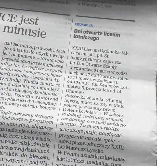 """""""Dziennik Polski"""" zaprasza na Dni Otwarte """"Skarżyńskiego""""!"""