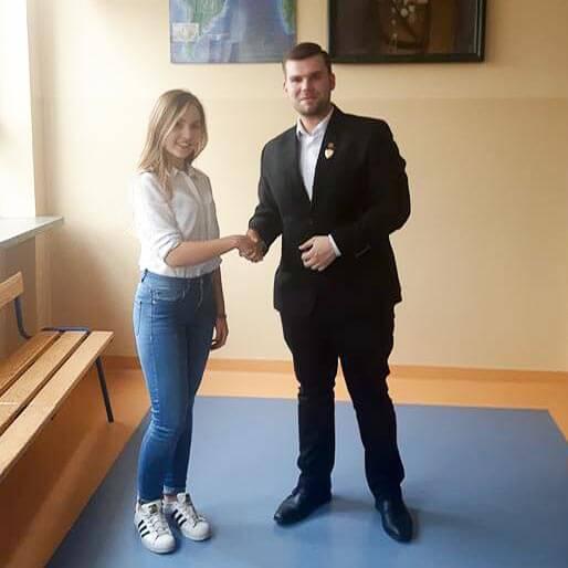 Dominika Zielińska nową Przewodniczącą Samorządu