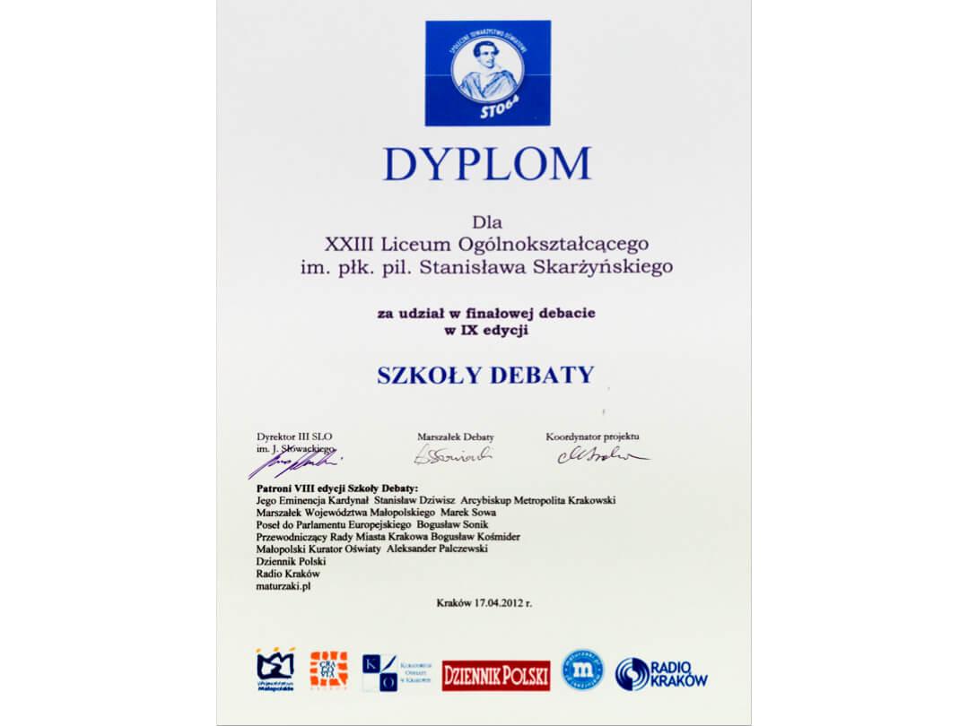 """Finalista """"Szkoły Debaty"""""""